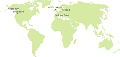 Weltkarte Partnerschaften SPN